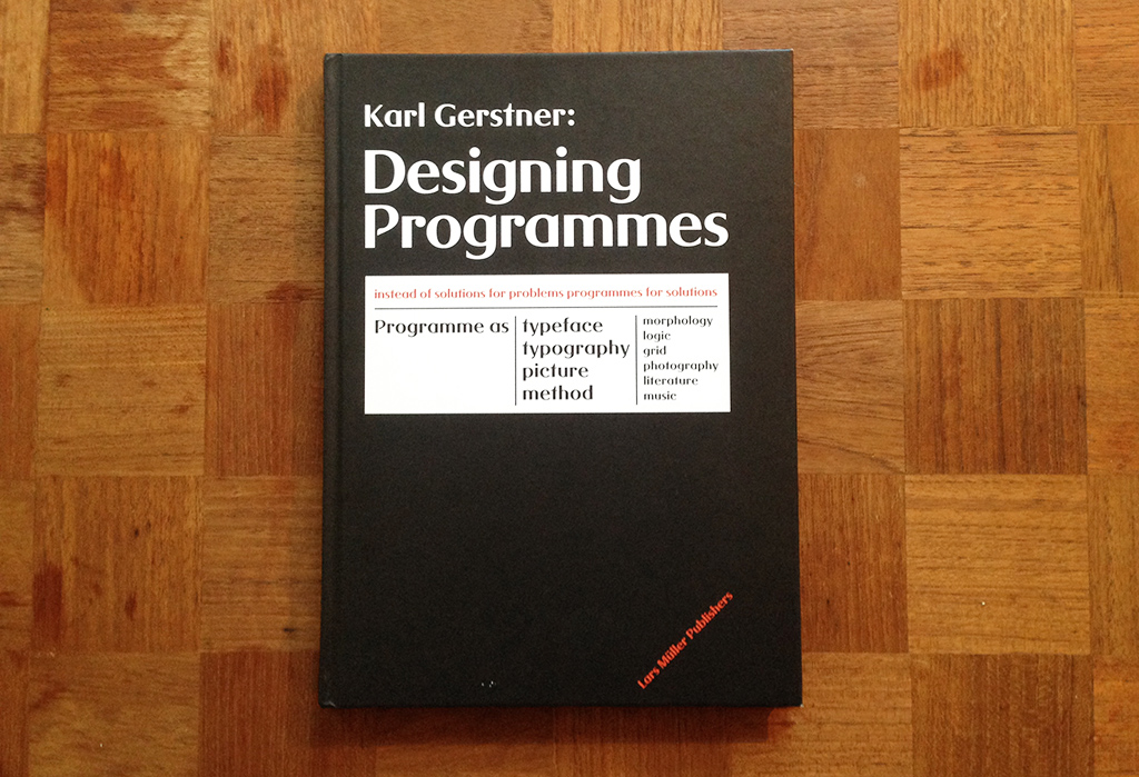 Cover from Designing Programmes book